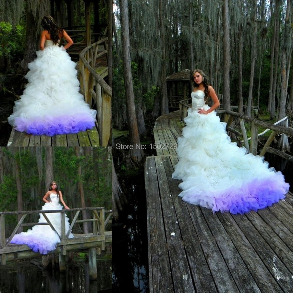 Wedding Dresses Blue And Purple 42