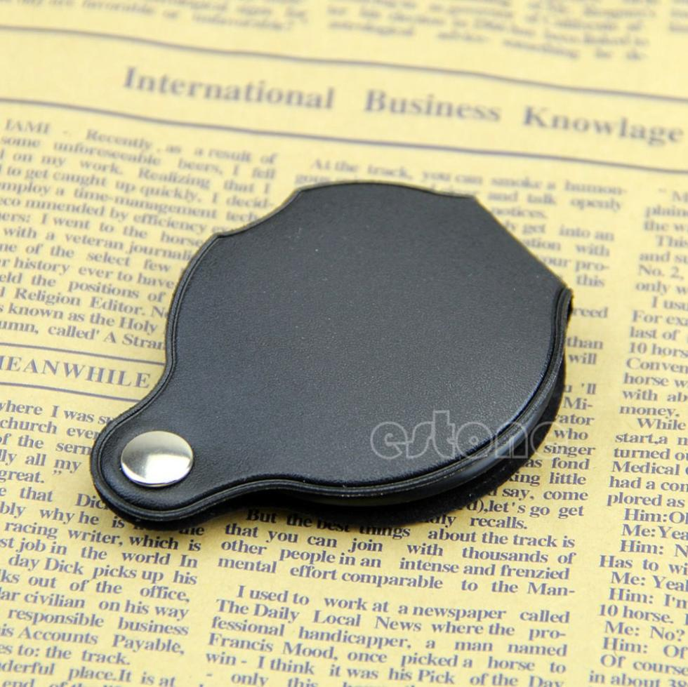 1pc Mini Pocket 5X 45mm Folding Jewelry Magnifier Magnifying Eye Glass Loupe Lens+Free Shipping<br><br>Aliexpress