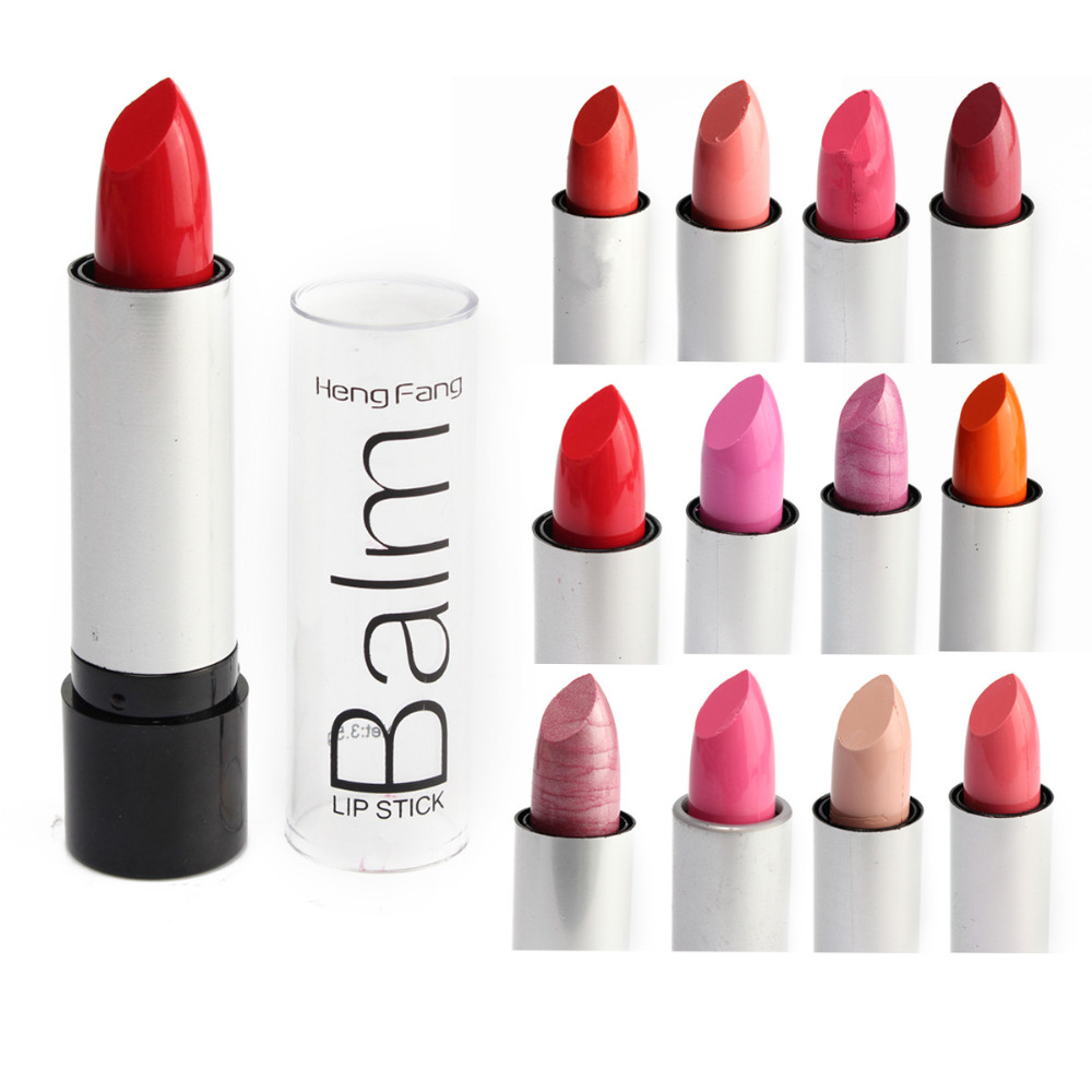 Natural 12 Colors/Set Matte Lipstick Makeup Moisturizer ...