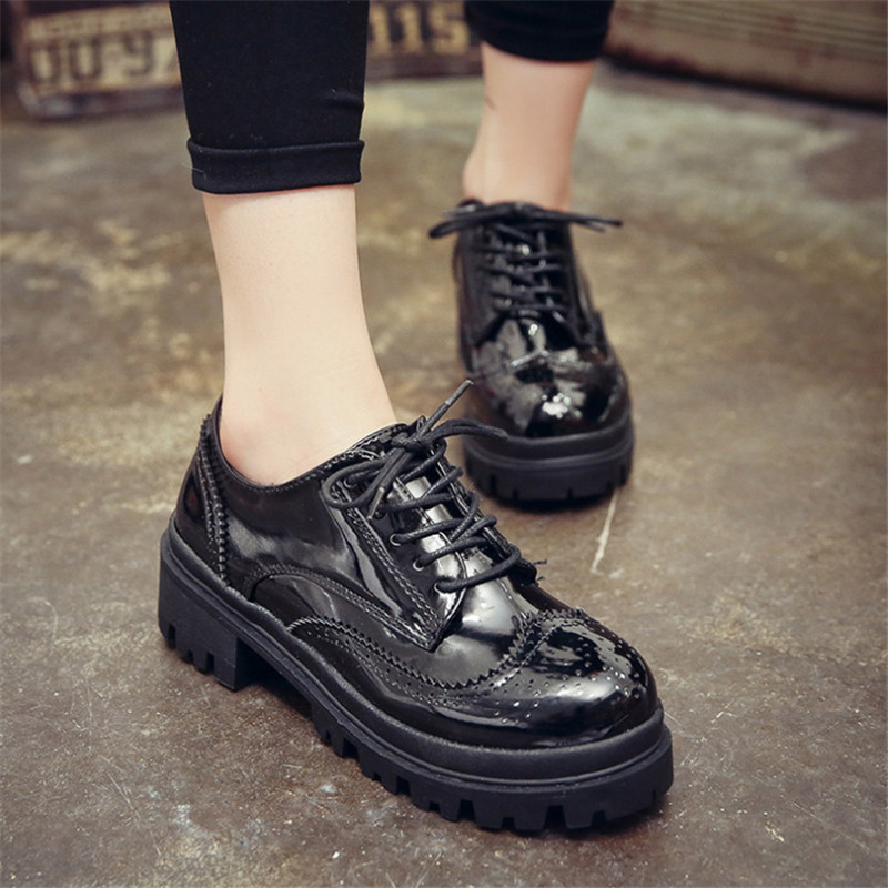 Fashion 2015 Womens Oxfords Faux Leather Lae Up Slip On Womens Flats Comfort Casual Women Shoes Wholesales<br><br>Aliexpress