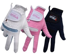 Promotion Professional Golf Gloves Men's Soft Microfiber Golf Gloves Breathable Outdoor Sports Gloves 40Pcs / Lot Free Shipping