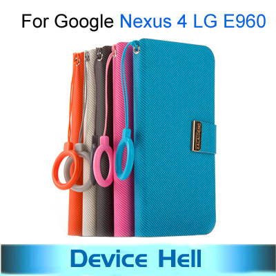 Free ship Luxury brand KALAIDENG KLD Fashion design Stand flip leather cover case for LG E960 Google NEXUS 4 cell phone