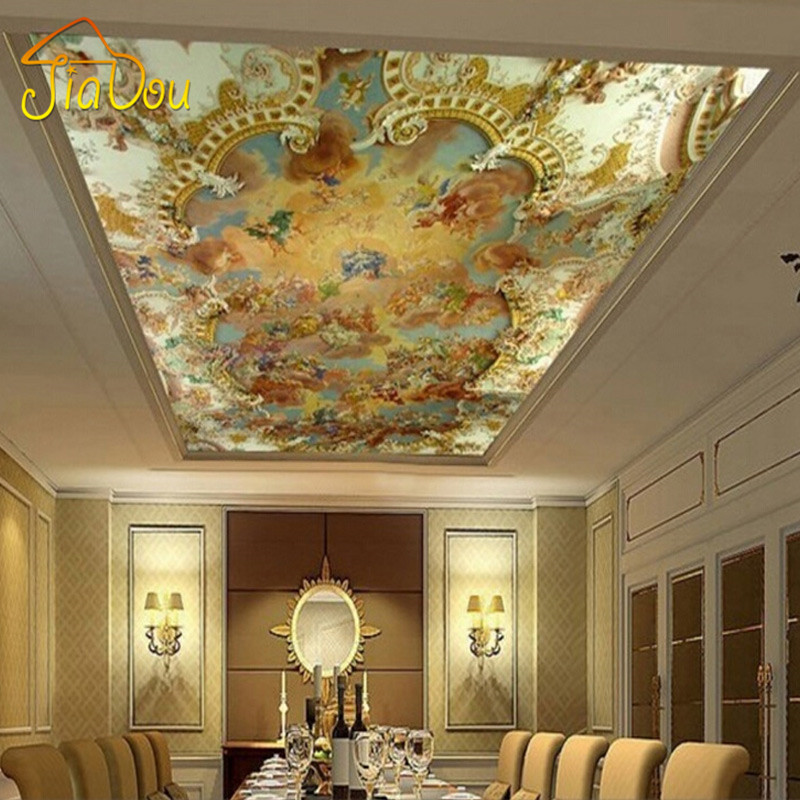 Custom 3d photo mural wallpaper european style hotel for Custom photo mural