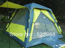 New style 3 – 4persons automatic waterproof outdoor camping tent quare top thicken UV tent