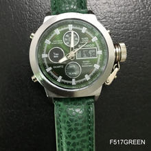 Relojes deportivos BOAMIGO hombre correa de cuero marrón hombre militar cuarzo LED digital analógica casual reloj hombre impermeable(China)