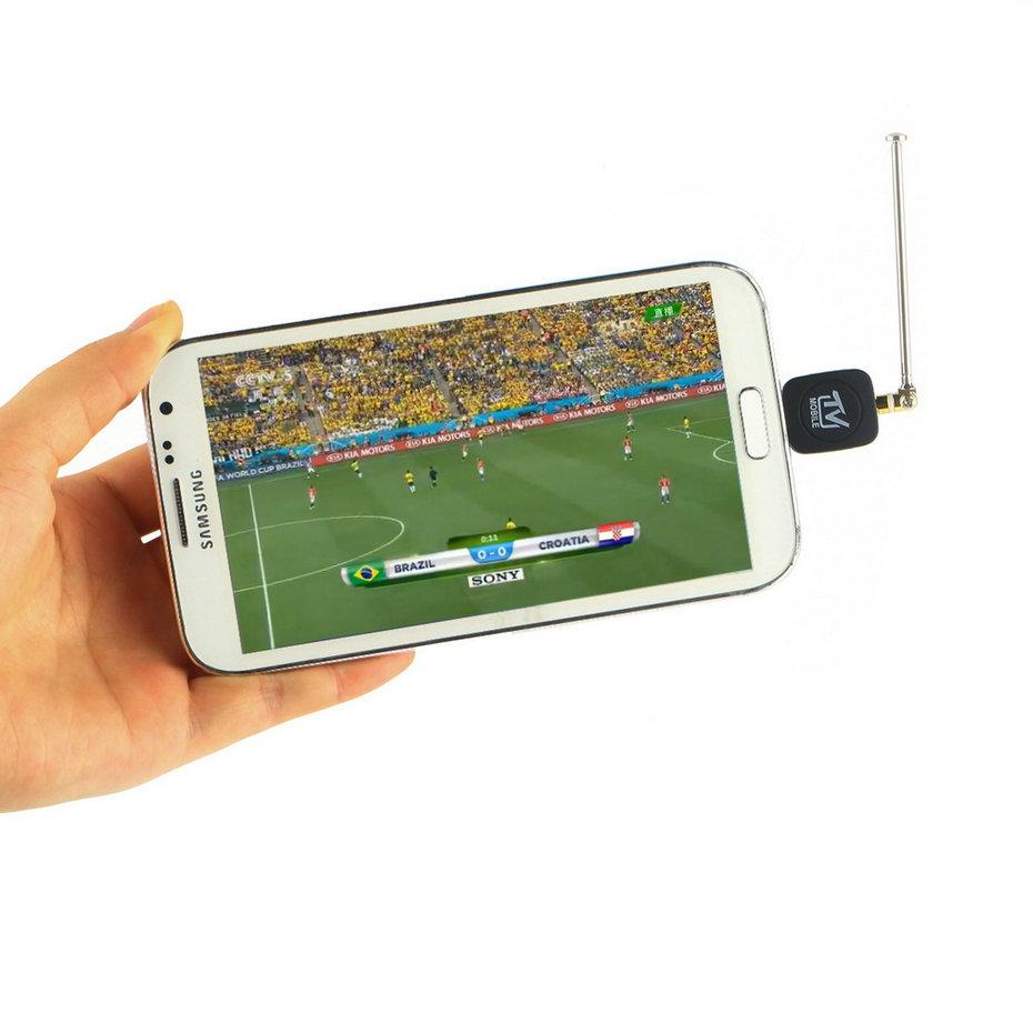 Гаджет  1pcs Mini Micro USB DVB-T Digital Mobile TV Tuner Receiver for Android 4.1 Above Hot Worldwide Promotion None Бытовая электроника