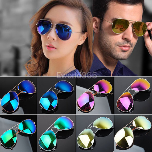 50% off Hot Retro Vintage Womens Men Mirrored Lens Summer Sunglasses Bans Holiday Sun Glasses oculos de sol feminino(China (Mainland))
