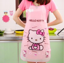 Waterproof PE Kawaii Jingle cats Adult Women Lady's Kitchen Cooking Pinafores Aprons Cartoon Novelty free shipping(China (Mainland))