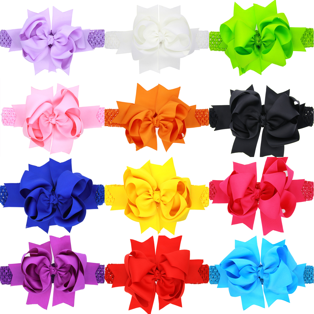 Retail 2016 newest design baby girl flower headband hairband rhinestone kids head band children hair accressories(China (Mainland))