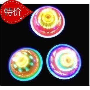Colorful light emitting spinning top spinning top yiwu luminous flash toys
