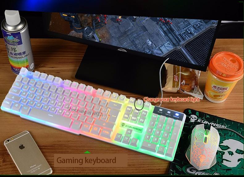 Free shipping! Pro Gaming Keyboard LED Backlit for Laptop PC Notebook for LOL DOTA2 Game Keyboard(China (Mainland))
