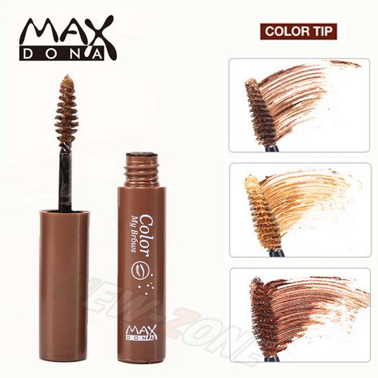 MAX Eyebrow Mascara Gel Brow Shadow make Pencil 24 Hours Long Lasting Waterproof 4.5g 3 Shades - New Zone Beauty store