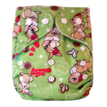 Happyflute New design cloth diaper fast dry suede cloth waterproof diaper leak guard 1pcs free shipping