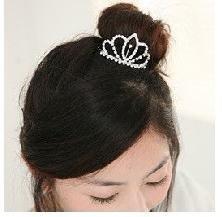Hair Accessories For Women Rhinestone Crystal Crown Comb Clip Bridal Tiara 6PCS  B4.50 H008