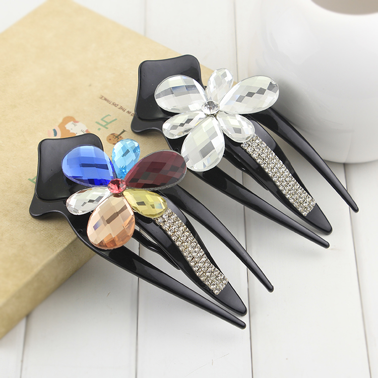 Frozen butterfly barrettes tiaras hair combs gem rhinestone bridal wedding jewelry crabs pins clips claw hairgrips - Lisa Fashion Accessories Shop store