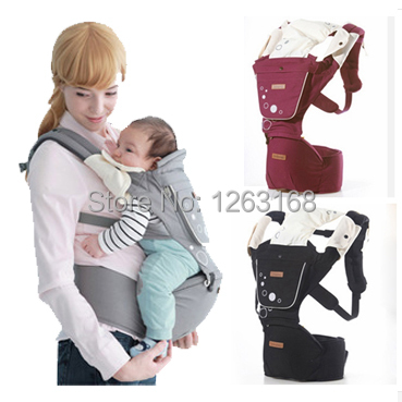 Hot sale Imama Baby Outdoor Carrier Hipseat Infant Baby's Shouders Multi-function Sling cotton backpack kid carriage 3 colors(China (Mainland))