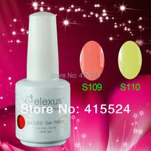 Mix Colors! Free shipping!Gelexus Soak Off UV LED Nail Gel Polish 2406Pcs/lot color randomly(China (Mainland))
