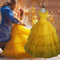 2017 Beauty And The Beast Costumes Princess Belle Dresses Adult Fancy Cosplay Halloween Costume For Women