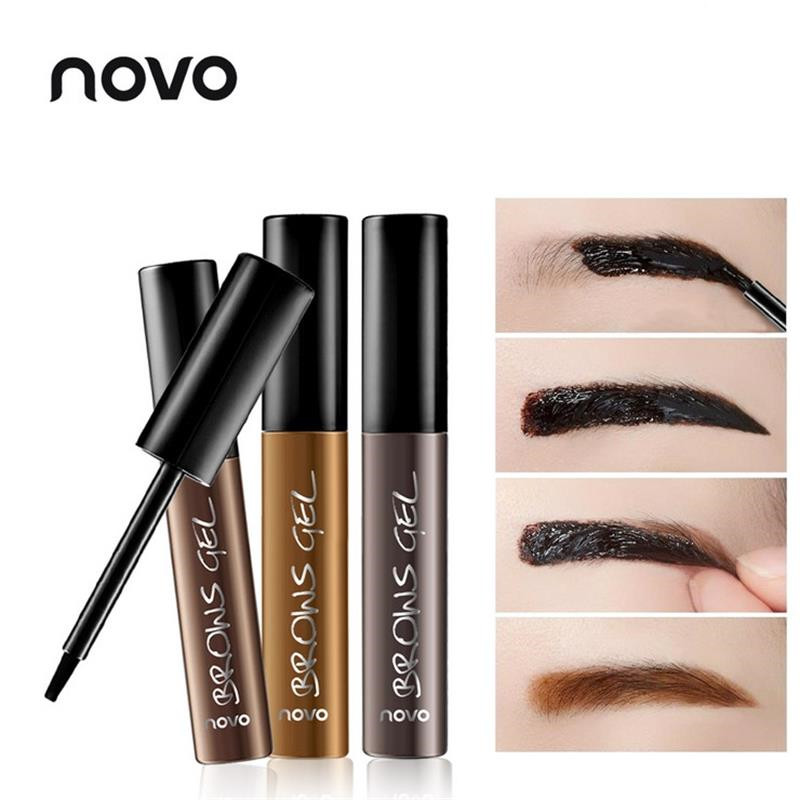 1PC Professional Peel Off Eyebrow Gel NOVO Brand Korean Makeup Liquid Eye Brow Mascara 3D Eyebrow Tint Cream Tattoo Brow Pen(China (Mainland))