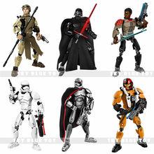 2016 KSZ Star Wars Minifigures Kylo Ren Captain Phasma Rey Poe Dameron Finn Figure toys building blocks DIY Toys Christmas Gifts