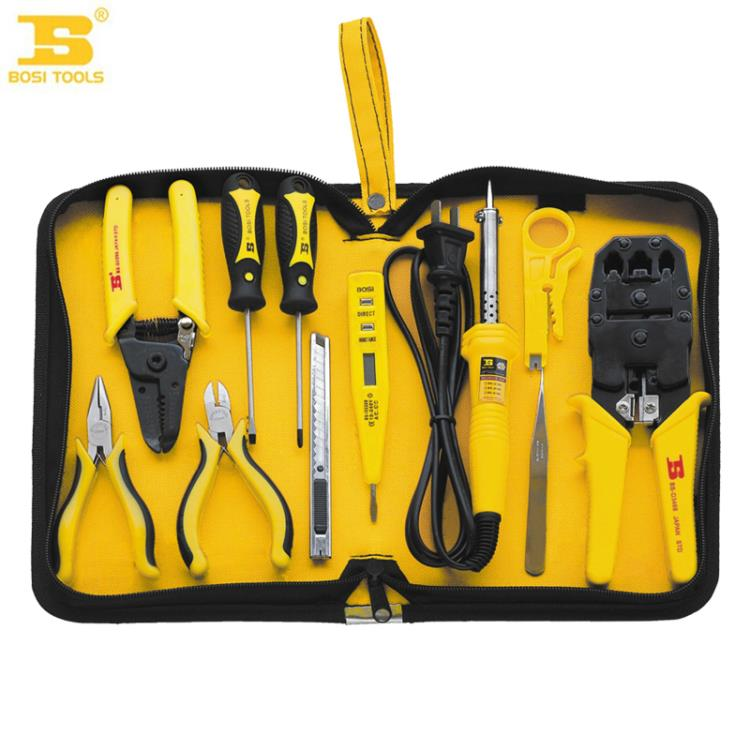2016 Persian tools 11 piece telecommunications groups tool kit set soldering iron BS511011 BOSI Tools dremel<br>