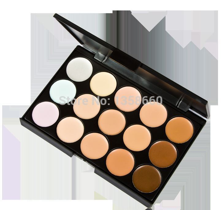 2015 new 2 Color choose ! 15 colors Concealer Neutral Palette 15 color makeup tools scar cream Face concealer Camouflage Body(China (Mainland))