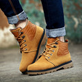 Men Shoes Winter Warm Cotton Shoes Fashion Martin Boots Wear resisting Casual Ankle Boots