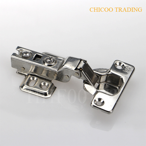Half overlay Stainless steel 304 furniture Concealed Hydraulic kitchen cabinet hinges-two way hinge(China (Mainland))