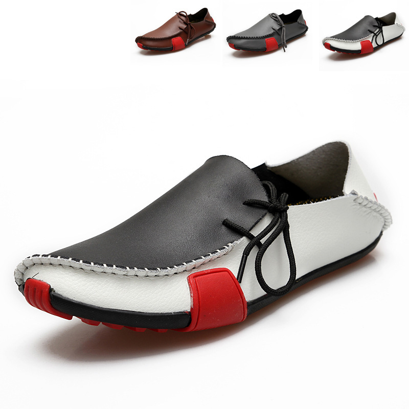 Genuine Leather Big Size 38-47 Casual Shoes Men Spring Autumn Summer Flat Gentleman 2014 New - MeShoe Miss You store