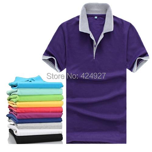 Wholesale sales 2014 Men brand t shirts for men polo shirts vintage sports jerseys golf tennis undershirts mens t-shirt 20 color(China (Mainland))