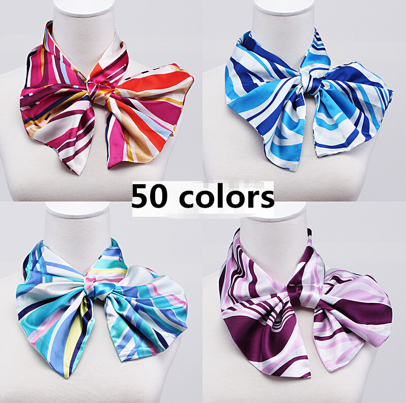 2015 women's fashion Variety magic silk scarf work uniforms wear scarf lady's hotel bank office work silk scarf satin scarf(China (Mainland))