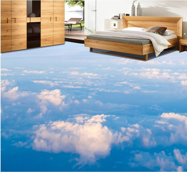 3 d pvc flooring custom wall paper blue sky white clouds the sitting 3d bathroom flooring. Smell Coming From Bathroom
