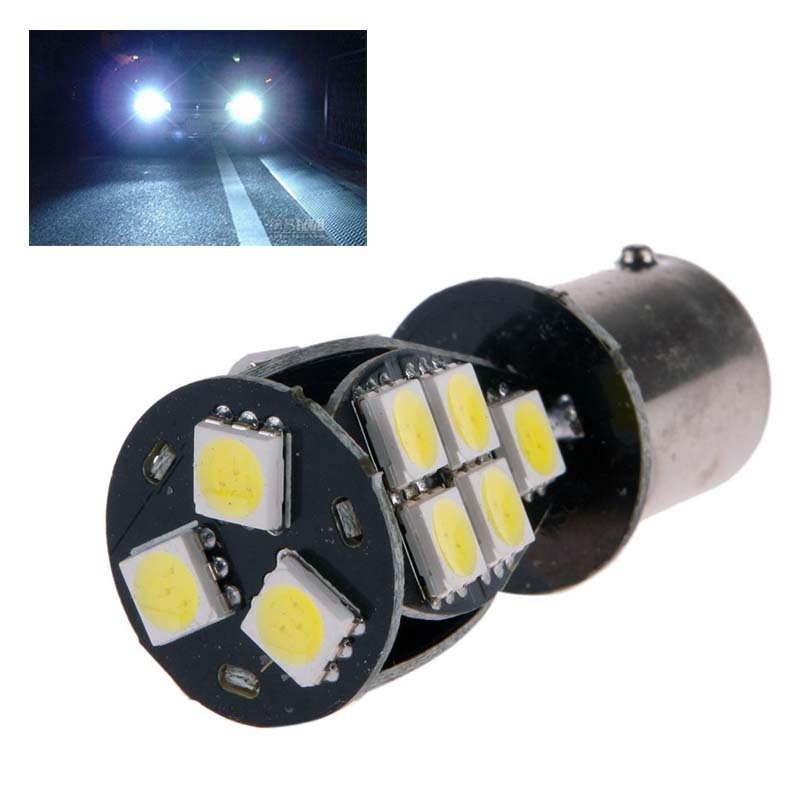 2014 New 1157 BAY15D 18SMD LED 5050 Error Free Car Brake Signal Light Bulb Pure White 12 #49381(China (Mainland))