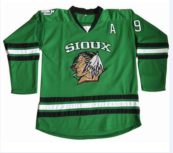Cheap limit #9 Jonathan Toews North Dakota Fighting Sioux hockey Jersey Double Stitched S-XXXL Free Shipping(China (Mainland))