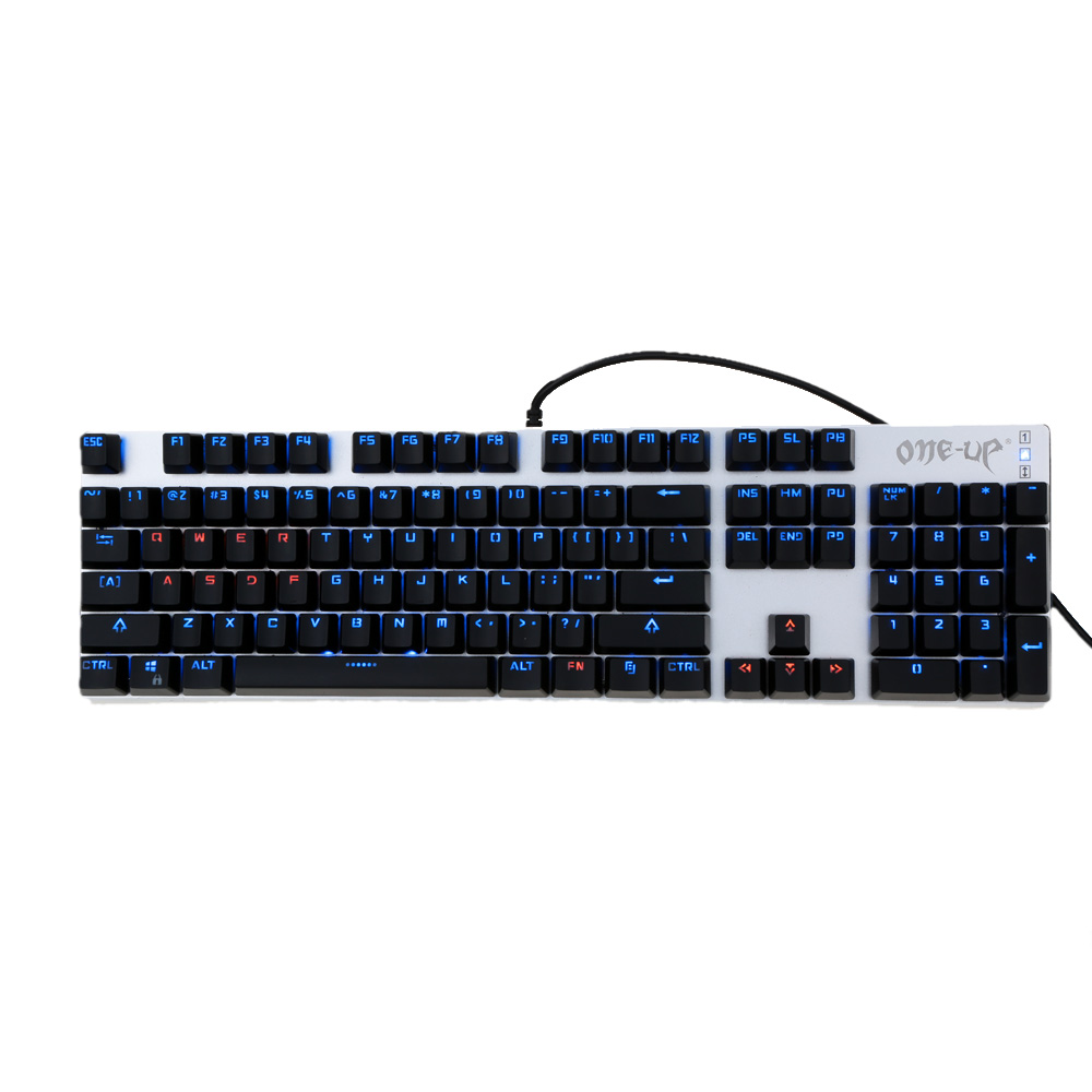 104 Keys Mechanical Pro Gaming Keyboard Blue Switch Suspended Button USB Wired Gamer Keyboard with LED Anti-ghosting for PC Game(China (Mainland))