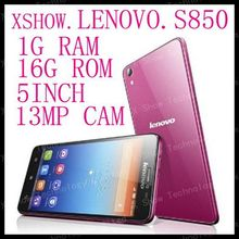 FREE SHIPpING instock Original Lenovo S850 phone Quad-core CPU 16G ROM 1G RAM 13M Camera russia  ANDROID4.2(China (Mainland))