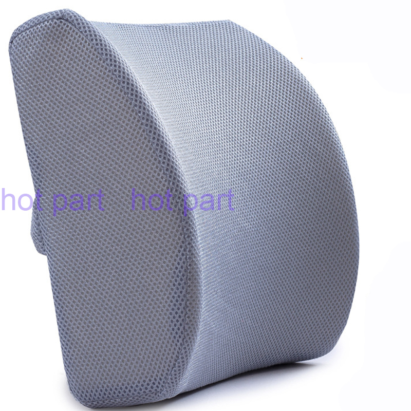 Confortable 3d mesh memory foam seat cushion lumbar back support pillow cushion for office home - Best back pillow for office chair ...