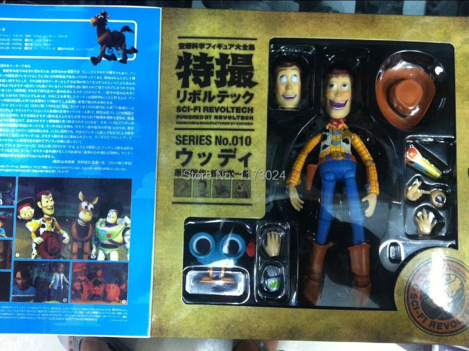 Pop Classic Animation Toy Story Woody Series NO. 010 Sci-Fi Revoltech Special PVC Action Figure Toys New Box(China (Mainland))