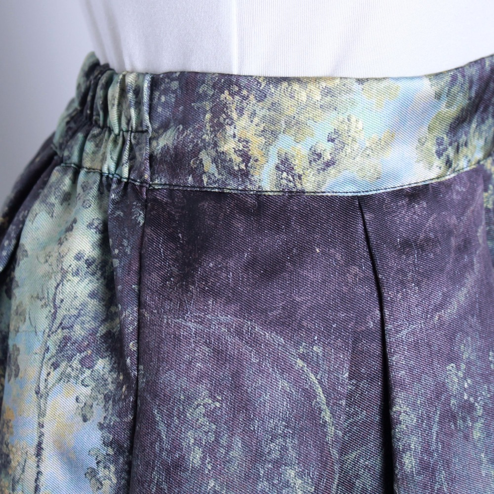 HTB1ux9FQFXXXXbvXpXXq6xXFXXXi - GOKIC 2017 Summer Women Vintage Retro Satin Floral Pleated Skirts Audrey Hepburn Style High Waist A-Line tutu Midi Skirt