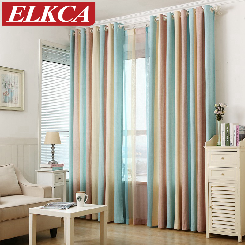 Striped printed window curtains for the bedroom fancy - Modelos de cortinas para dormitorio ...