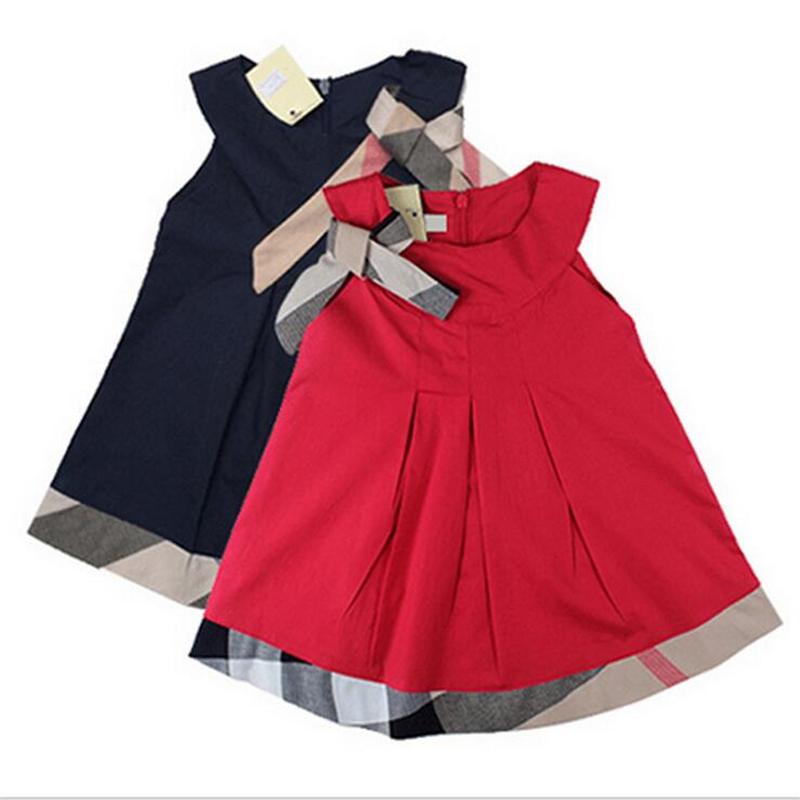 2016 Spring Autumn Baby Girl Dress Casual Baby Girl Clothing Cotton Kids Girls font b Plaid