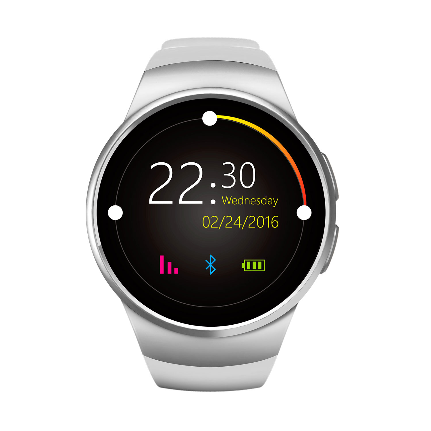 Fashion Round Smart Watches New KW18 Heart Rate Monitor ...