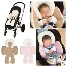 Reversible Body Support Pad Mat Compliance Baby Car Seat Stroller Baby Head Body Support Cushion 3 Colors(China (Mainland))