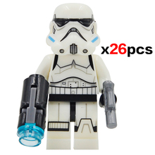 26pcs/lot Star Wars 7 Minifigures Yoda/Kylo Ren/Stormtrooper Building Blocks Force Awakens Starwars Set Model Toys legoelied(China (Mainland))