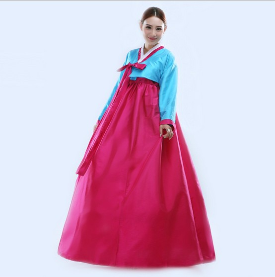 2016 New Arrive Fashion Korean Hanbok Traditional Korean Dresses Korean Dance Costumes Free ...