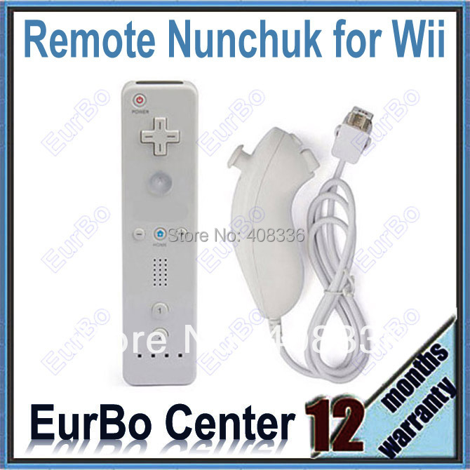 Free Shipping Remote And Nunchuk Controller For Wii White (EW111-W)<br><br>Aliexpress