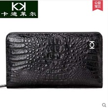 KADILER Thai crocodile handbag male super capacity male long zipper wallet leather hand bag business