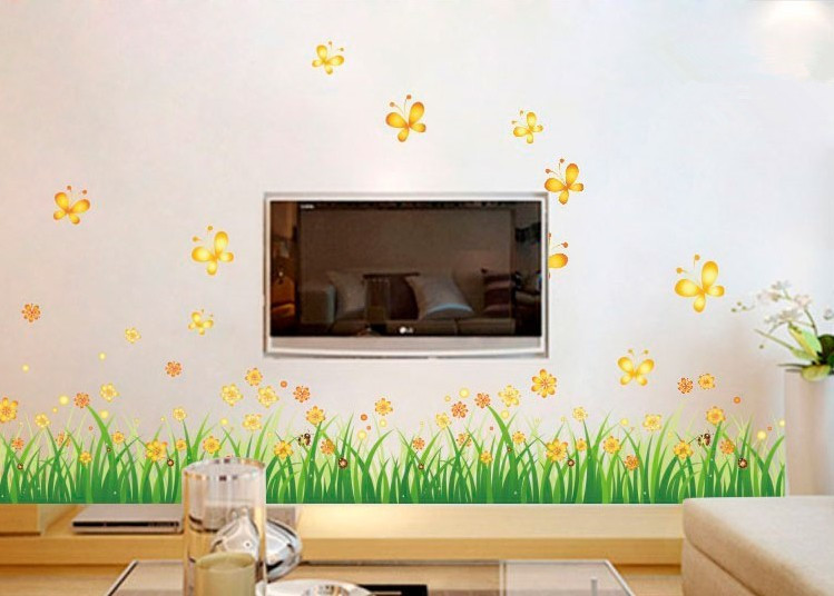 Kids Removable Wall Stickers On A Wall Home Decor Flower