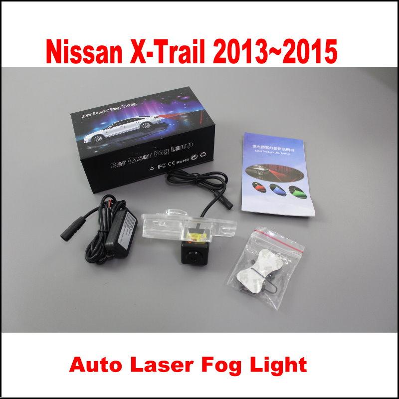 For Nissan X-Trail 2013~2015 / Cars Laser Super Bright Fog Lamps Night Snow Rain Fog Sandstorms Anti-Collision Warning Lights