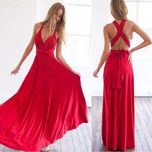 נשים Multiway לעטוף ארוך שמלת שיפוע להמרה Boho מקסי תחבושת שמלות המפלגה השושבינות אינפיניטי Robe לונג Femme(China)
